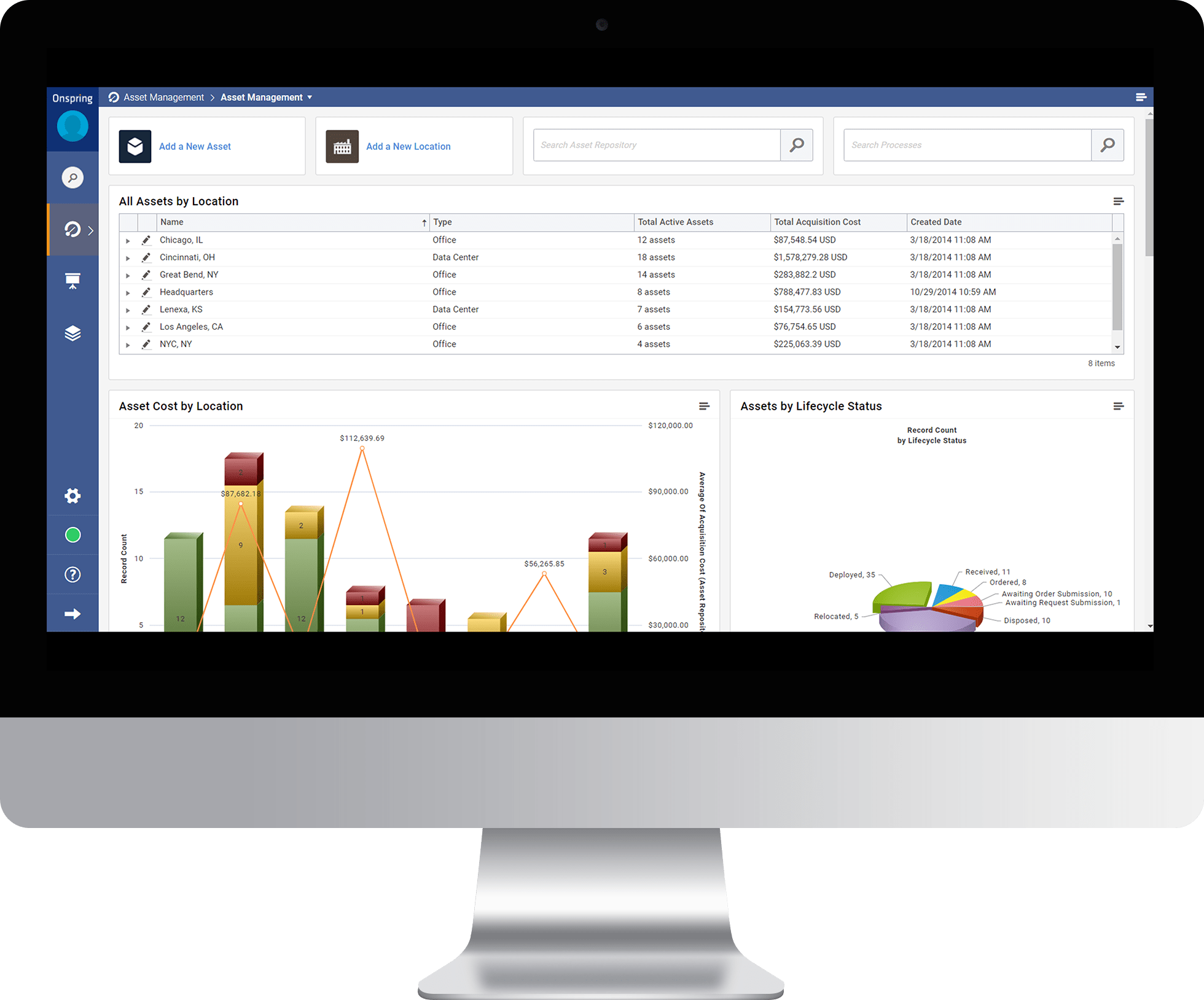 Asset Management Analytics from Onspring GRC Software